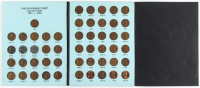 Complete Set of (51) 1941-1958 Lincoln Wheat Pennies with Coin Folder at PristineAuction.com