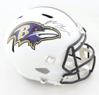 Marquise Brown Signed Ravens Full-Size Matte White Speed Helmet (JSA COA) at PristineAuction.com