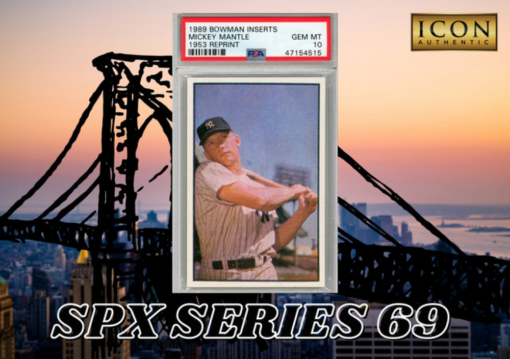 Icon Authentic SPX Series 69 Mystery Box 50+ Cards Per Box at PristineAuction.com