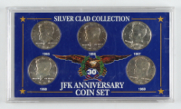 Complete Set of (5) JFK Anniversary Silver Clad Silver Half Dollar Coin Set at PristineAuction.com