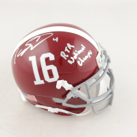"Eddie Jackson Signed Alabama Crimson Tide Mini Helmet Inscribed ""RTR"" & ""National Champs!"" (JSA COA) at PristineAuction.com"