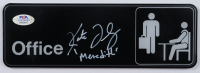 """Kate Flannery Signed 3x9 """"The Office"""" Wall Sign Inscribed """"Meredith"""" (PSA COA) at PristineAuction.com"""