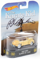 Ralph Macchio Signed 1948 Ford Super De Luxe Hot Wheels Car Action Figure (Legends COA) at PristineAuction.com