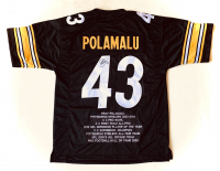 Troy Polamalu Signed Career Stat Highlight Jersey (Beckett COA) at PristineAuction.com