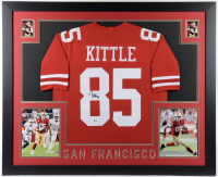 George Kittle Signed 35x43 Custom Framed Jersey (Beckett COA) (See Description) at PristineAuction.com