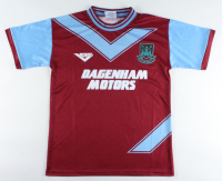 """Julian Dicks Signed West Ham United Jersey Inscribed """"The Terminator"""" (Beckett COA) at PristineAuction.com"""
