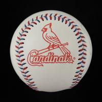 Ric Flair Signed Cardinals Logo Baseball (JSA COA) (See Description) at PristineAuction.com