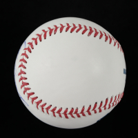 """Todd Worrell Signed OML Baseball Inscribed """"86 NL ROY"""" with VIP Event Ticket (JSA COA) (See Description) at PristineAuction.com"""
