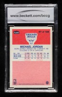 Michael Jordan 1986-87 Fleer #57 RC (BCCG 9) at PristineAuction.com