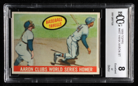 Hank Aaron 1959 Topps #467 BT / WS Homer (BCCG 8) at PristineAuction.com