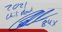 """Christopher Bell Signed & Race-Used 2021 Chili Bowl Car Nameplate Inscribed """"2021 Chili Bowl"""" & """"84x"""" (PA COA) at PristineAuction.com"""