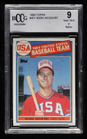 Mark McGwire 1985 Topps #401 Olympics RC (BCCG 9) at PristineAuction.com