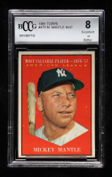 Mickey Mantle 1961 Topps #475 MVP (BCCG 8) at PristineAuction.com