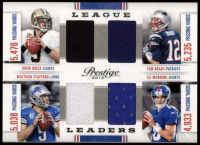 Drew Brees / Tom Brady / Matthew Stafford / Eli Manning 2012 Prestige League Leaders Materials #16 at PristineAuction.com