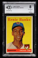 Ernie Banks 1958 Topps #310 (BCCG 8) at PristineAuction.com