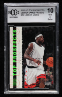 LeBron James 2003 Upper Deck Top Prospects LeBron James Promos #P2 (BCCG 10) at PristineAuction.com