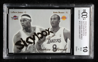 LeBron James / Kobe Bryant 2003-04 SkyBox Autographics Rookies Affirmed #12 (BCCG 10) at PristineAuction.com