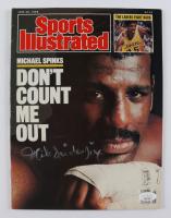 "Michael ""Jinx"" Spinks Signed 1988 Sports Illustrated Magazine (JSA COA) (See Description) at PristineAuction.com"