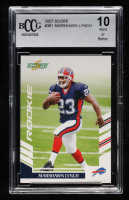 Marshawn Lynch 2007 Score #381 RC (BCCG 10) at PristineAuction.com