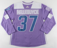 Connor Hellebuyck Signed Jets Hockey Fights Cancer Jersey (COJO COA) at PristineAuction.com