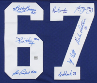 "1967 Maple Leafs ""Stanley Cup"" Jersey Team-Signed by (8) With Red Kelly, Bob Baun, Bob Pulford, Brian Conacher, Larry Jeffrey, Mike Walton, Jim Pappin & Eddie Shack (COJO COA) at PristineAuction.com"