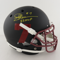 "Joe Theismann Signed Full-Size Authentic On-Field Matte Black Helmet Inscribed ""83 MVP"" (JSA COA) at PristineAuction.com"