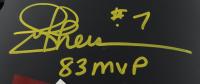 "Joe Theismann Signed Full-Size Authentic On-Field Matte Black Helmet Inscribed ""83 MVP"" (JSA COA) at PristineAuction.com"