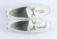 """Randy Quaid Signed Pair of Giovanni Loafer Shoes Inscribed """"Cousin Eddie"""" (Beckett COA) at PristineAuction.com"""