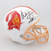 "Warren Sapp Signed Buccaneers Full-Size Throwback Helmet Inscribed ""HOF '13"" (Beckett COA) (See Description) at PristineAuction.com"
