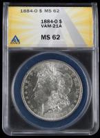 1884-O Morgan Silver Dollar - VAM-21A (ANACS MS62) at PristineAuction.com