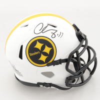 Chase Claypool Signed Steelers Lunar Eclipse Alternate Speed Mini Helmet (Beckett Hologram) (See Description) at PristineAuction.com