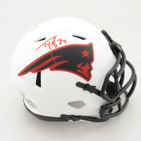 Ty Law Signed Patiots Lunar Eclipse Alternate Speed Mini Helmet (Beckett Hologram) at PristineAuction.com