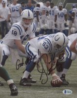 """Jeff Saturday Signed Colts 8x10 Photo Inscribed """"God Bless!"""" (Beckett COA) at PristineAuction.com"""