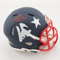 Ty Law Signed Patiots AMP Alternate Speed Mini Helmet (Beckett Hologram) (See Description) at PristineAuction.com