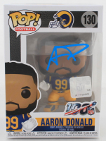 Aaron Donald Signed Rams #130 Funko Pop! Vinyl Figure (JSA COA) at PristineAuction.com