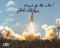 "John L. Phillips Signed 8x10 Photo Inscribed ""Reach for the Stars!"" (Beckett COA) at PristineAuction.com"