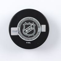 "Felix Potvin Signed 1990 NHL Draft Logo Hockey Puck Inscribed ""31 Pick"" (COJO COA) at PristineAuction.com"
