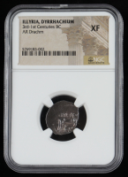 3rd-1st Centuries B.C. Illyria, Dyrrhachion AR Ancient Silver Drachm (NGC XF) at PristineAuction.com