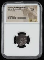 3rd-1st Centuries B.C. Illyria, Dyrrhachion AR Ancient Silver Drachm (NGC XF) at PristineAuction.com