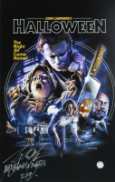 "Tony Moran Signed ""Halloween"" 11x17 Poster Inscribed ""Michael Myers"" & ""H1"" (Legends COA) at PristineAuction.com"