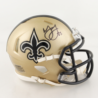 Marshon Lattimore Signed Saints Mini Speed Helmet (Beckett COA) at PristineAuction.com