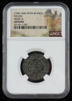 1390-1406 Henry III Spain Blanca Toledo mint (NGC Genuine) at PristineAuction.com
