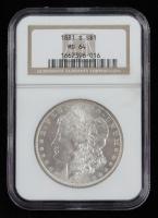 1881-S Morgan Dollars (NGC MS64) (Toned) at PristineAuction.com