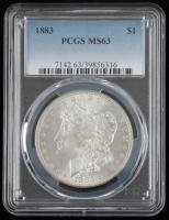 1883 Morgan Silver Dollar (PCGS MS63) at PristineAuction.com