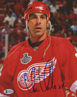 Chris Chelios Signed Red Wings 8x10 Photo (Beckett COA) at PristineAuction.com