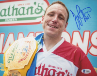 "Joey Chestnut Signed 8x10 Photo Inscribed ""Eat!"" (Beckett COA) at PristineAuction.com"