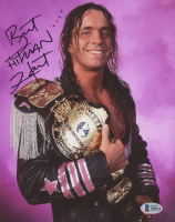 "Bret ""Hitman"" Hart Signed WWE 8x10 Photo (Beckett COA) at PristineAuction.com"