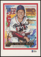 Stan Musial Signed Cardinals 6x8 Career Stat Lithograph (Beckett COA) at PristineAuction.com