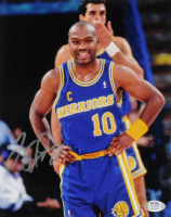 Tim Hardaway Signed Warriors 8x10 Photo (PSA COA) at PristineAuction.com
