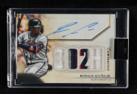 Ronald Acuna Jr. 2020 Topps Luminaries Hit Kings Autograph Patches #HKAPRAJ at PristineAuction.com